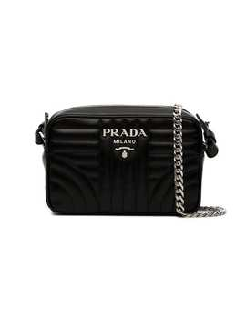Prada Black Diagramme Leather Cross Body Baghome Women Prada Bags Messenger & Crossbody Bags by Prada