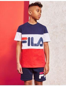 Fila Dux Colourblock T Shirt Junior by Jd Sports