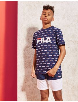 Fila All Over Print T Shirt Junior by Jd Sports