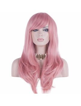 Daots 28 Wig Halloween Wig Long Heat Resistant Big Wavy Hair Women Cosplay Wig (Pink) By Daots by Daots