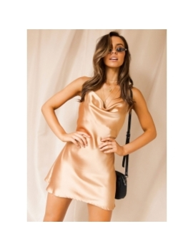 Nocturnal Slip Dress   Champagne by Peppermayo