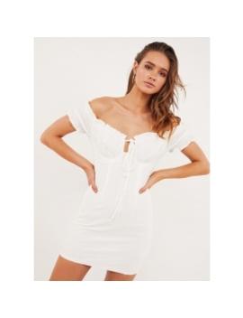 Raisa Mini Dress   White by Peppermayo