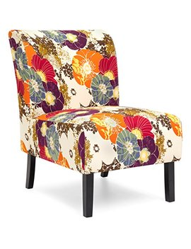 Best Choice Products Modern Contemporary Upholstered Armless Accent Chair (Floral/Multicolor) by Best Choice Products