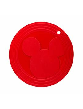 Le Creuset Mickey Mouse Cerise 8 Inch Silicone Trivet by Le Creuset