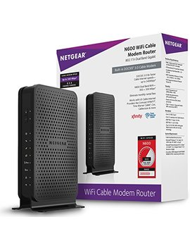 Netgear N600 (8x4) Wi Fi Docsis 3.0 Cable Modem Router (C3700) Certified For Xfinity From Comcast, Spectrum, Cox, Spectrum & More by Netgear