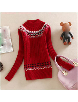 New Autumn Winter Korean Fashion Trend High Collar Thicken Knitting Sweater Coat by Unbranded