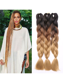 1/3 Pcs Kanekalon Jumbo Braiding Hair Synthetic Hair Extensions Ombre Braids Us by Ebay Seller