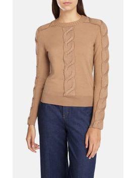 Karen Millen Camel Cable Knit Sweater Size 1 Knit (Xs) by Karen Millen