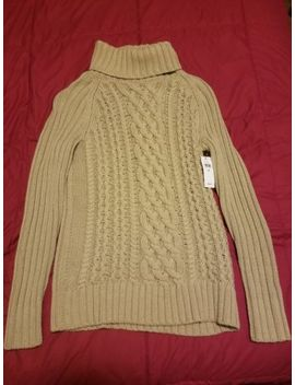 Banana Republic Women Cable Knit Turtleneck Sweater Beige Long Sleeves Size Xs by Banana Republic