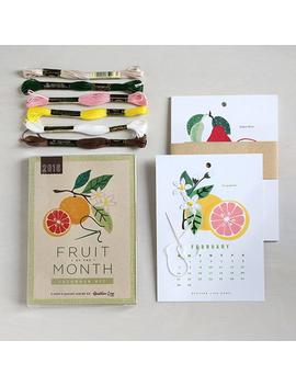 2019 Fruit Of The Month Calendar Kit   Diy Embroidery. Craft  Wall Calendar. Kitchen Decor. Botanical Gift Under 25. Waldorf by Etsy
