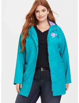 Disney Ariel Turquoise Rain Jacket by Torrid