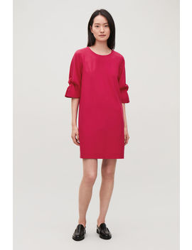 Drape Sleeved Wool Dress by Cos