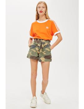 Camouflage Print Utility Shorts by Topshop