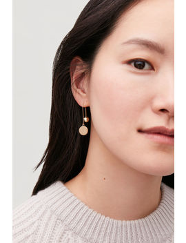 Ball And Disc Drop Earrings by Cos