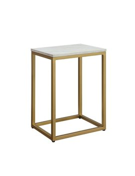 Mainstays End Table With Space Saving Design And Durable Metal Frame, Multiple Finishes by Mainstays