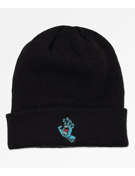 Santa Cruz Screaming Hand Black Beanie by Santa Cruz Skate