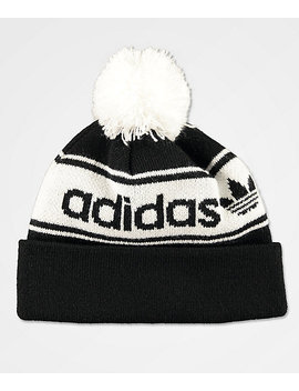 Adidas Originals Black &Amp; White Pom Beanie by Adidas