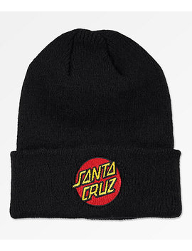 Santa Cruz Classic Dot Black Beanie by Santa Cruz Skate