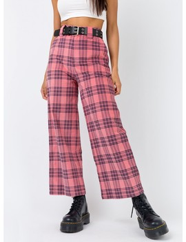 Lazy Oaf Check Cord Wide Leg Trouser by Lazy Oaf
