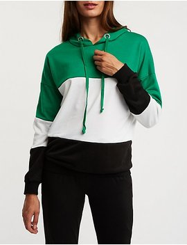 Oversize Colorblock Hoodie by Charlotte Russe