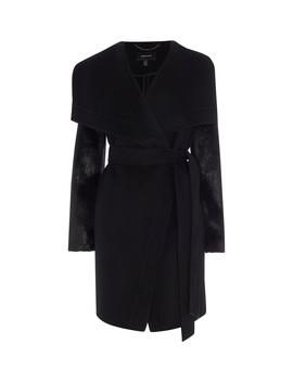 Contrast Sleeves Coat by 8081080732 Fd02680780 Td093 Td165