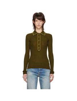 Brown Merino Wool Polo by Acne Studios