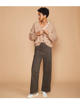 Lou &Amp; Grey Brushed Twill High Waist Wide Leg Pants by Lou & Grey