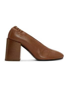 Brown Sully Block Heels by Acne Studios
