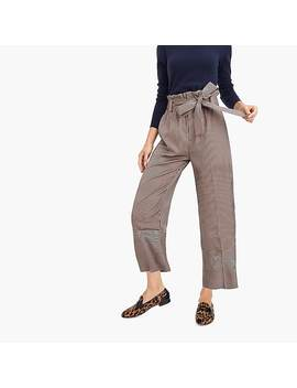 Petite Point Sur Relaxed Paperbag Pant In Stripe by J.Crew