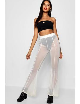 Halloween Mesh Panelled Flare Trouser by Boohoo