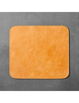 Faux Leather Mouse Pad   Brown   Hearth & Hand™ With Magnolia by Hearth & Hand™ With Magnolia