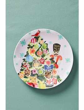 Kris Kringle Melamine Dessert Plate by August Wren
