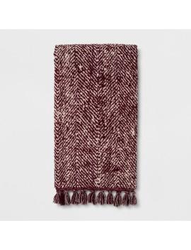 Herringbone With Fringe Berry Bath Towel   Threshold™ by Threshold™
