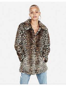 Faux Fur Leopard Coat by Express