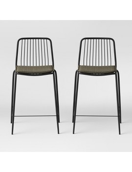 Set Of 2 Sodra Square Seat Wire Counter Stool   Project 62™ by Project 62™