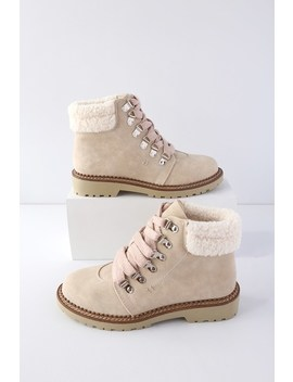 Casbah Cream Lace Up Ankle Boots by Dirty Laundry