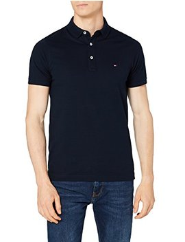 Tommy Hilfiger Men's Slim Fit Regal Polo Shirt Blue (Sky Captain 403) by Tommy+Hilfiger