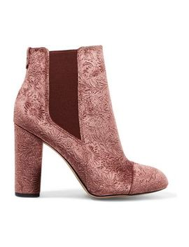 Case Embossed Velvet Ankle Boots by Sam Edelman
