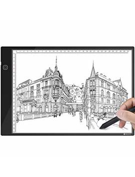Light Box Drawing, A4 Ultra Thin Light Pad Brightness Adjustable Copy Board With Usb Cable For Artists, Sketching, Animation, Designing, Tattoo, Architecture, Perfect Gift For Kids by Yunlights