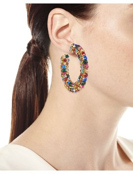 Crystal Hoop Earrings by Sachin & Babi