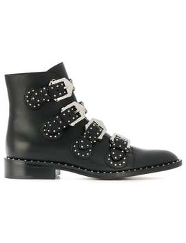 Givenchystudded Buckled Bootshome Women Givenchy Shoes Boots by Givenchy
