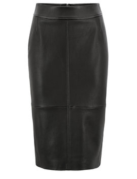 Lambskin Leather Pencil Skirt With Paneled Structure by Boss