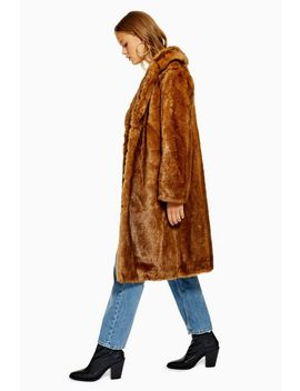 Long Vintage Faux Fur Coat by Topshop