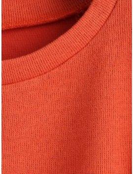 Zaful Metal Plaque Pullover Sweatshirt   Orange S by Zaful