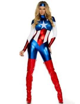 Star Spangled Hero Costume   Blue by Fashion Nova