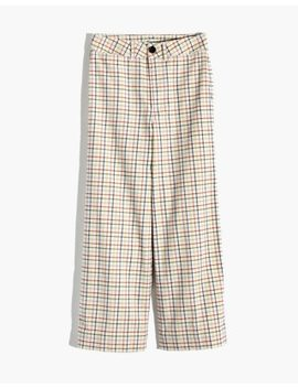 Emmett Wide Leg Crop Pants In Rainbow Windowpane by Madewell