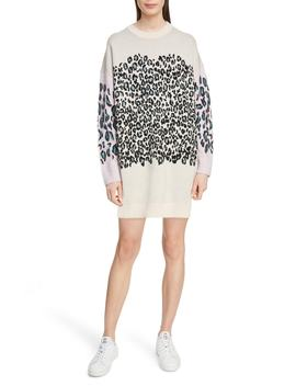 Comfort Leopard Sweater Dress by Kenzo