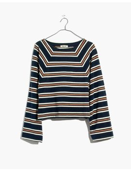 Metallic Stripe Wide Sleeve Top by Madewell