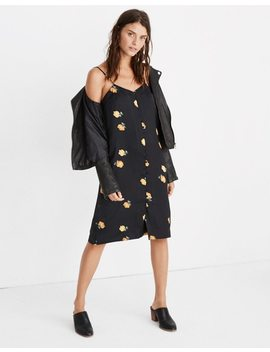 Button Front Slip Dress In Floating Florets by Madewell