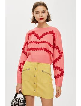 Squiggle Corduroy Jumper by Topshop